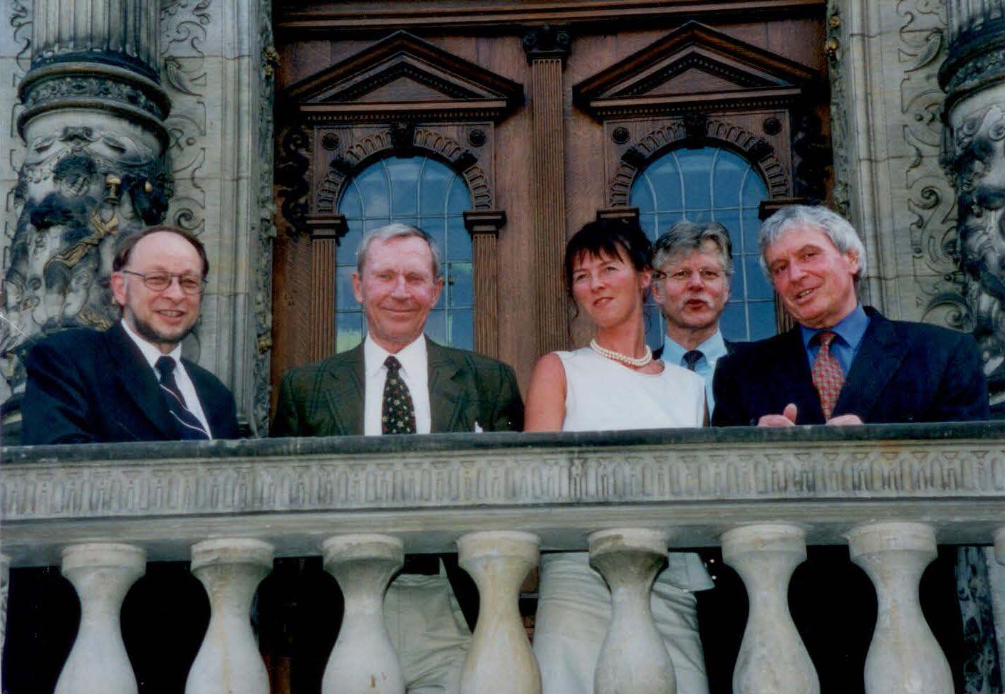 Verleihung des Berninghausen Preises im Jahr 2000 mit Gründer Friedo Berninghausen (†2014)